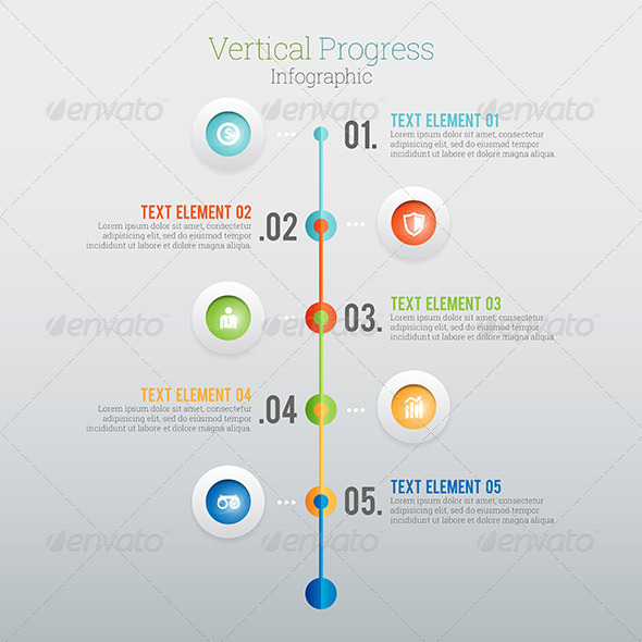 GraphicRiver Vertical Progress Infographic 8189097