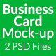 Business card mock-up SS-9 - GraphicRiver Item for Sale
