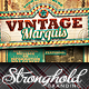 Vintage Marquis Sign Flyer Template - GraphicRiver Item for Sale