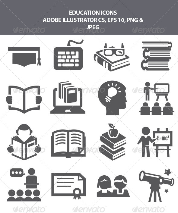 GraphicRiver Education Icons 8189318