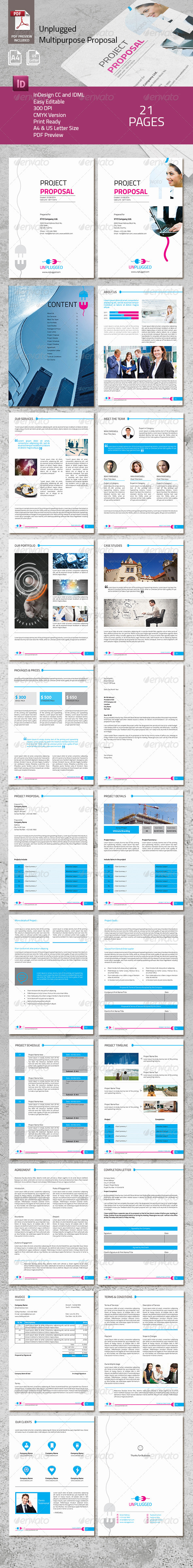 GraphicRiver Unplugged Multipurpose Proposal 8180846