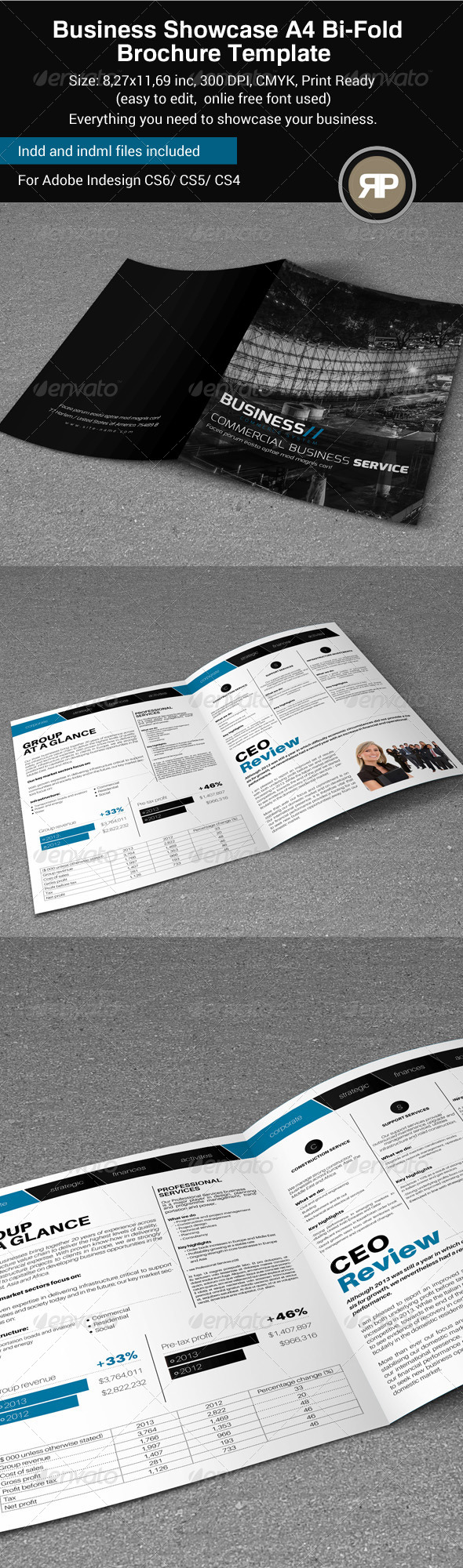 GraphicRiver Business Showcase A4 Bi-Fold Brochure 8190185
