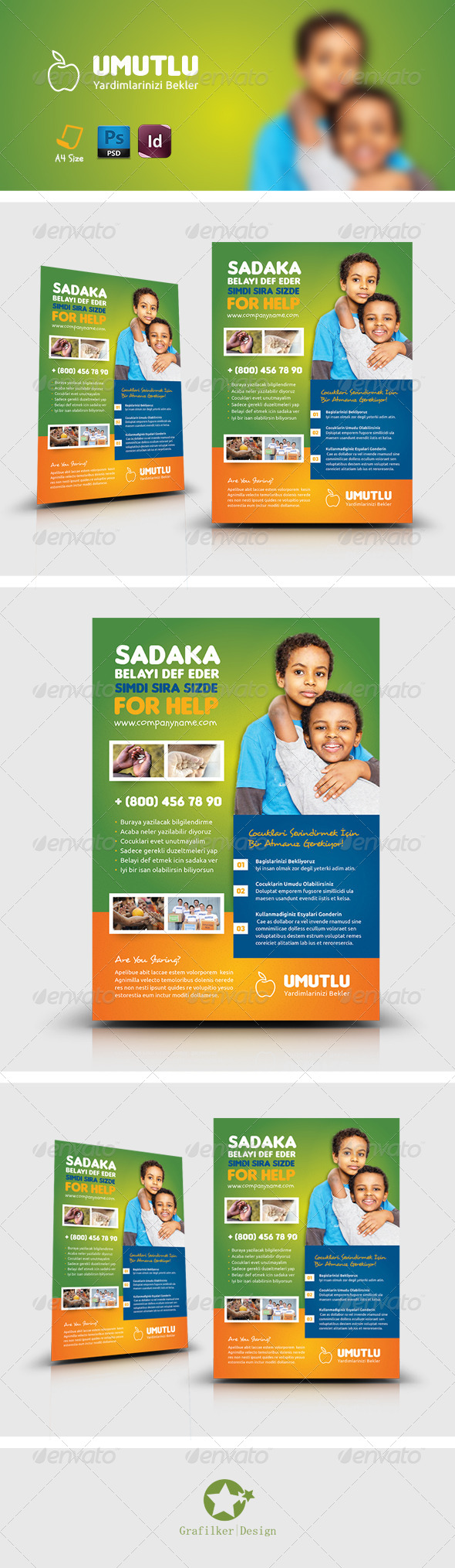 GraphicRiver Charity Flyer Templates 8190306