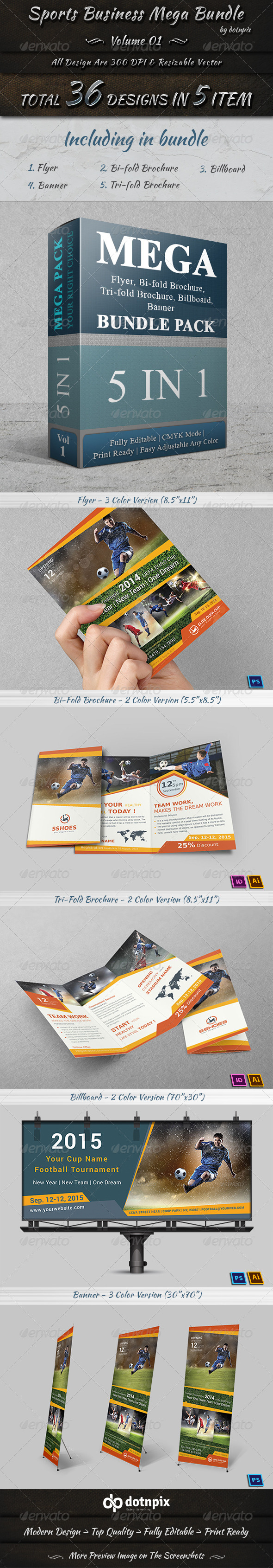 GraphicRiver Sports Business Mega Bundle Volume 1 8190511