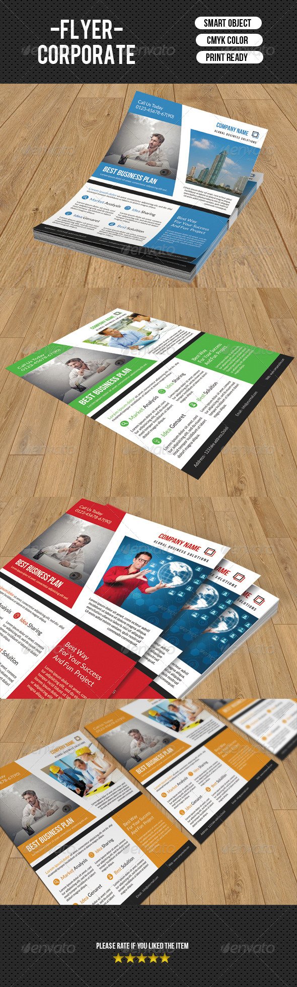 GraphicRiver Corporate Flyer Template-V75 8190520