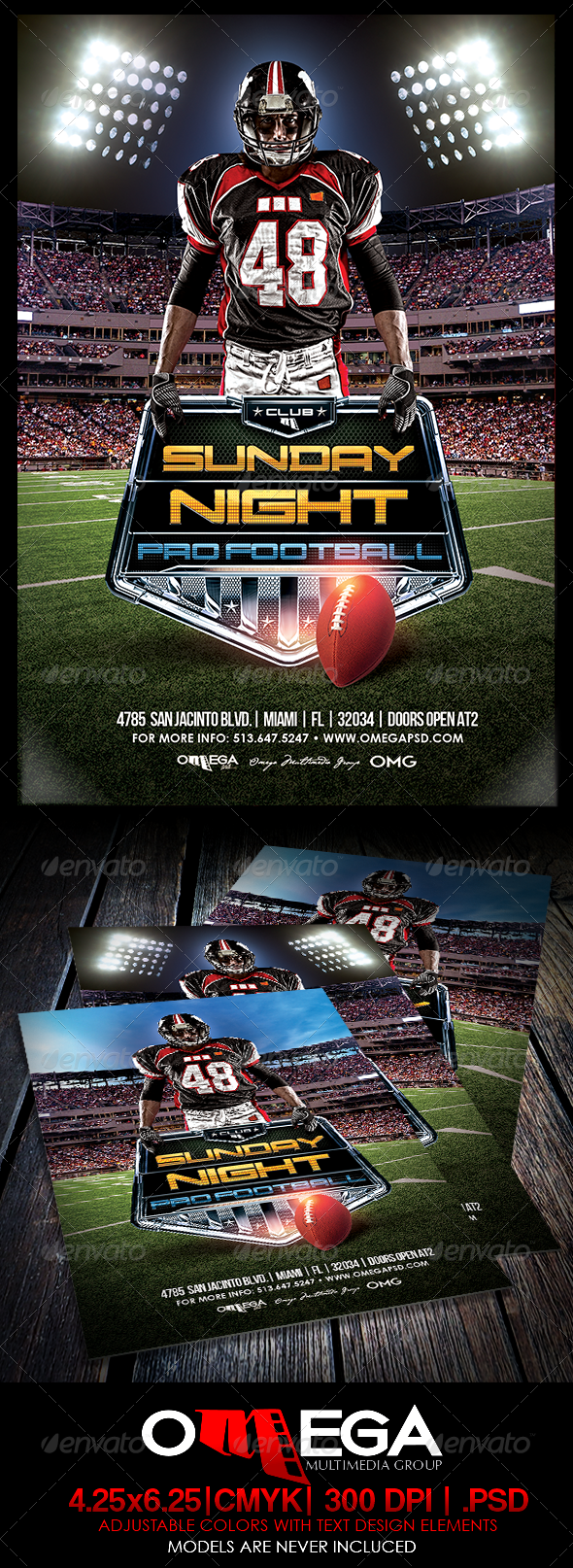 GraphicRiver Sunday Night Pro Ball 8190542
