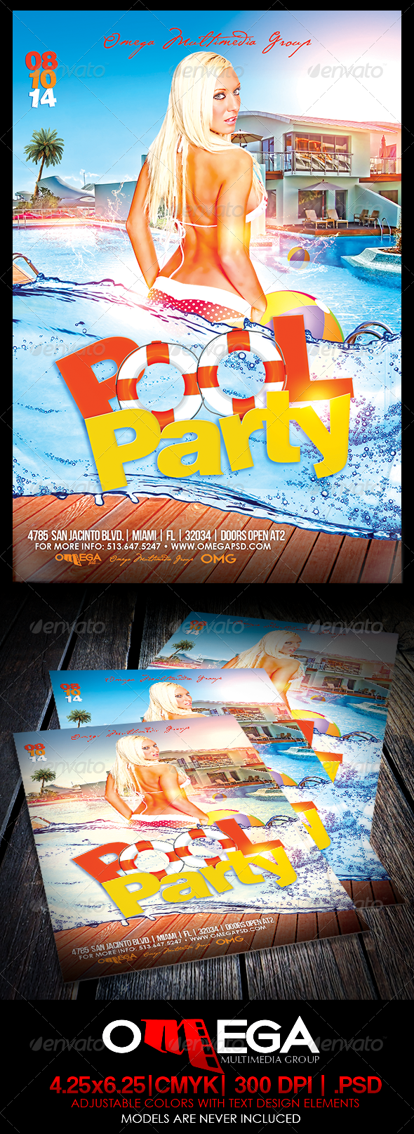 GraphicRiver Pool Party 8190547