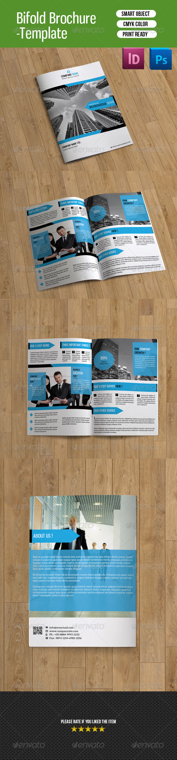 GraphicRiver Bifold Business Brochure-V88 8190568