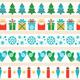 Set of Christmas Tape Strips
