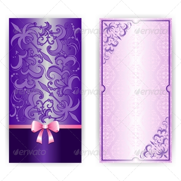Template for Greeting Card Invitation