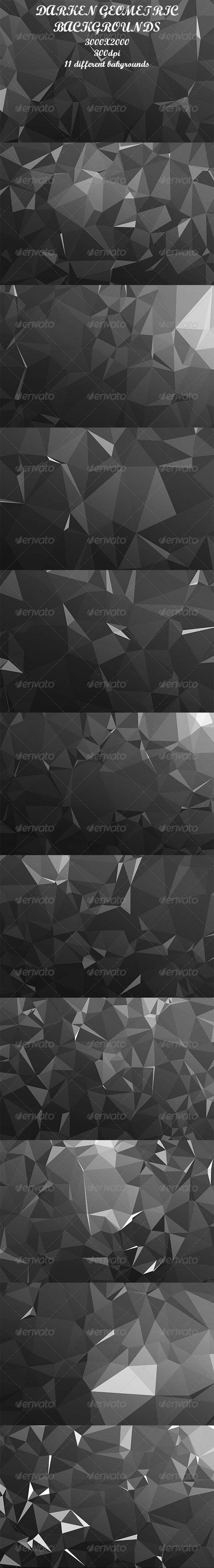 Darken Geometric Backgrounds