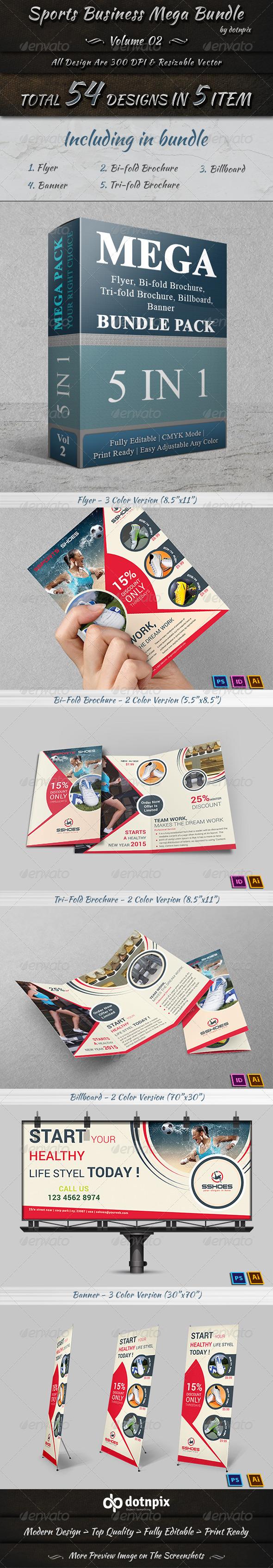 GraphicRiver Sports Business Mega Bundle Volume 2 8191490