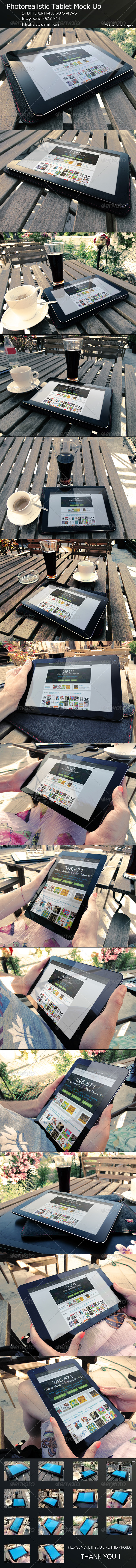 GraphicRiver PhotoRealistic Tablet Mock Up 8191800