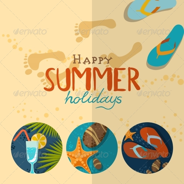 GraphicRiver Summer Holidays Background 8191817