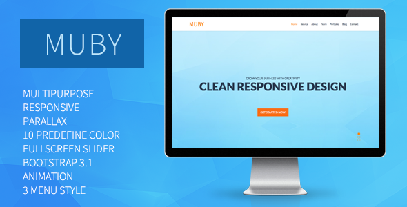 Muby | Multi-Purpose One-Page Template