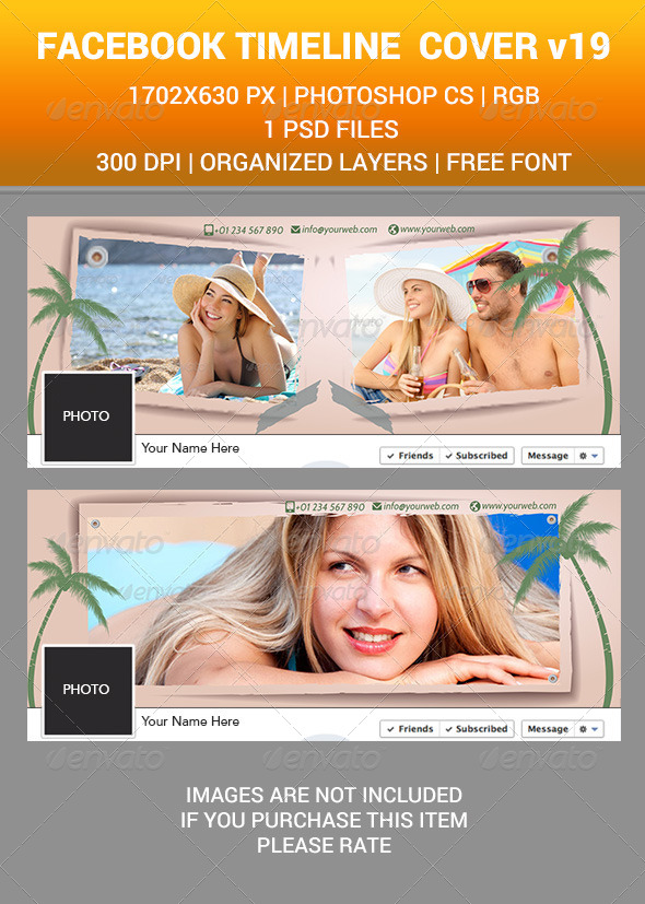 GraphicRiver Facebook Timeline cover v19 8191922