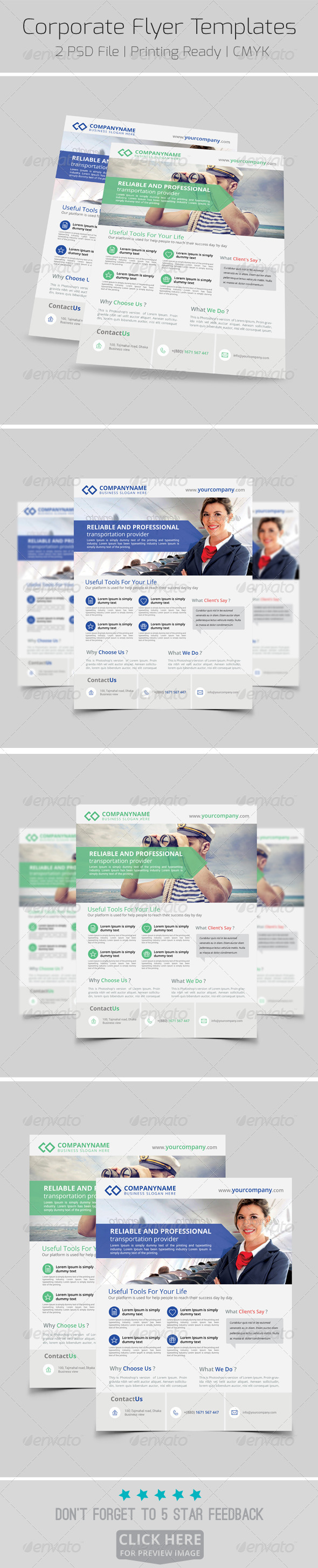 GraphicRiver Modern Corporate Flyer Templates 8192113
