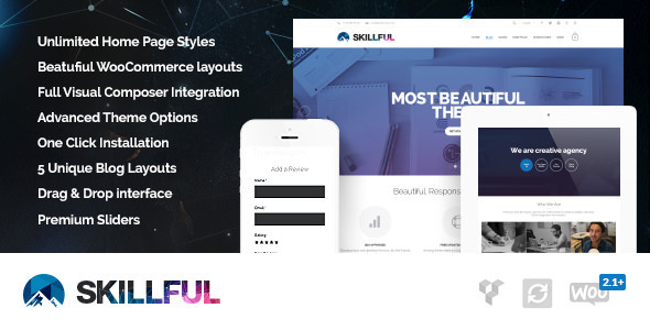 ThemeForest Skillful Responsive Multi-Purpose Theme 8192122
