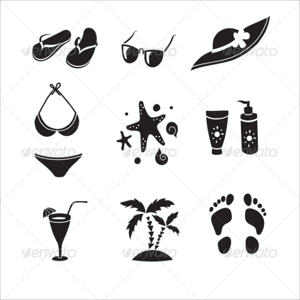 GraphicRiver Summer Elements for your Design 8192250