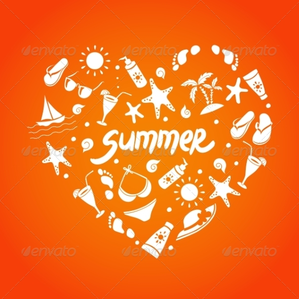 GraphicRiver Summer Elements for your Design 8192350