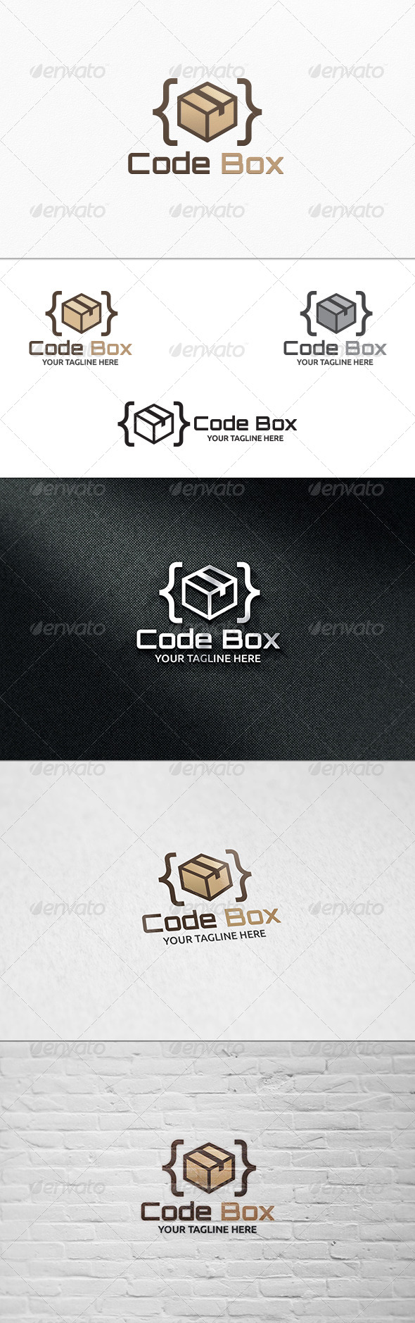 GraphicRiver Code Box Logo Template 8192625
