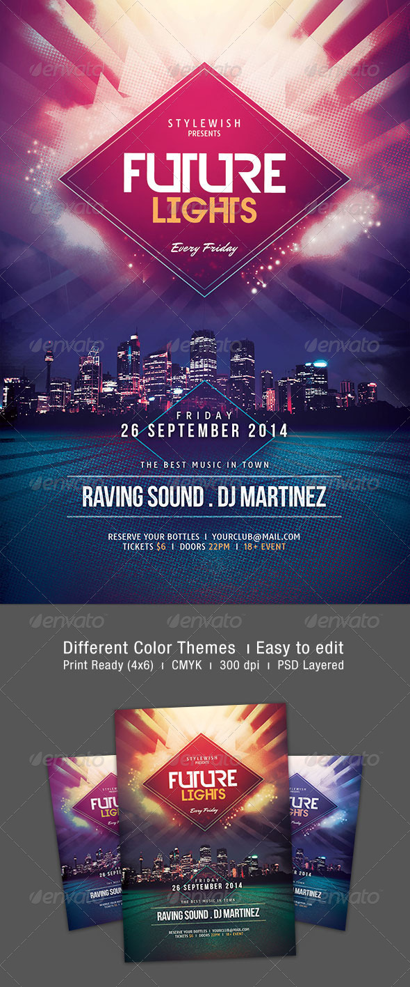GraphicRiver Future Lights Flyer 8192674