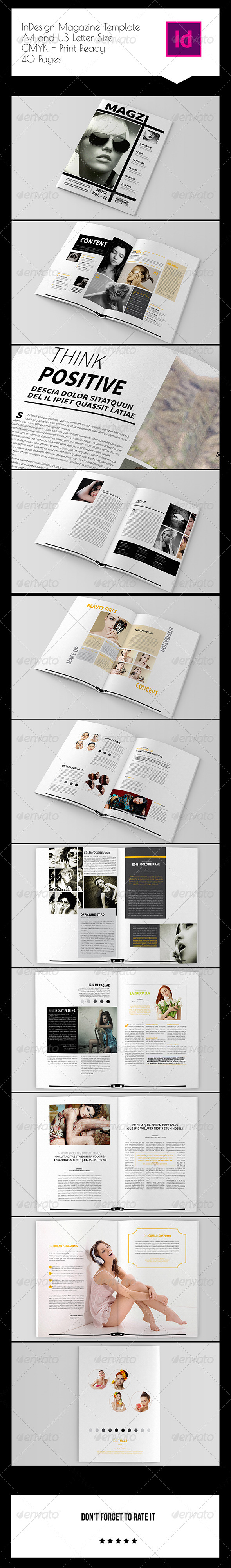 GraphicRiver 40 Pages InDesign Magazine Template 8192716