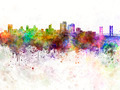 Sacramento skyline in watercolor background - PhotoDune Item for Sale