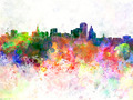 Hartford skyline in orange background - PhotoDune Item for Sale