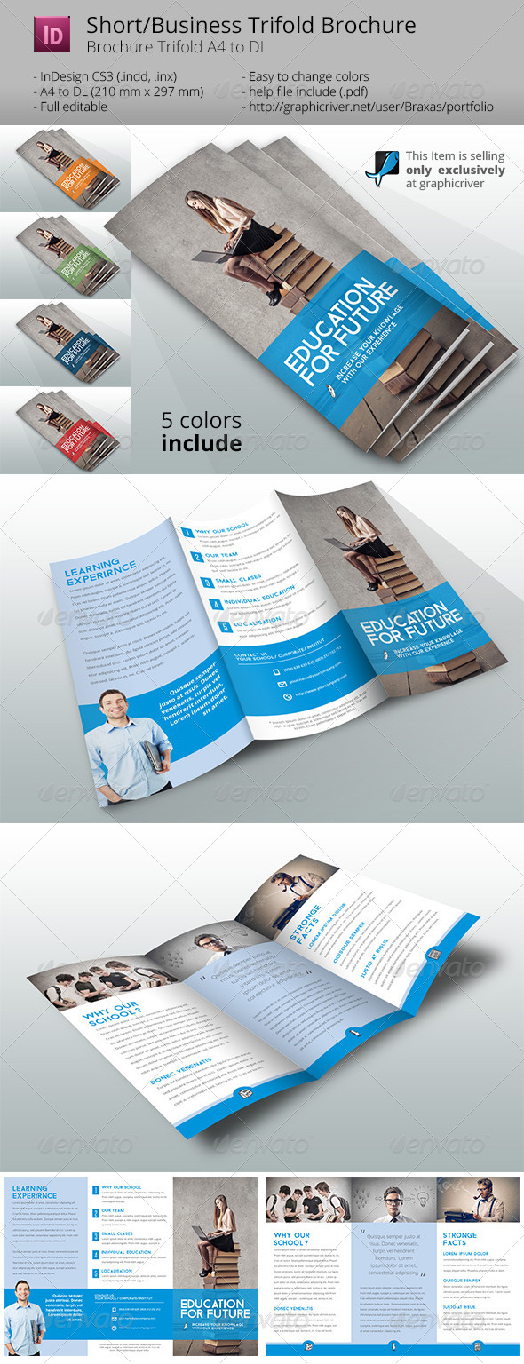 GraphicRiver School Brochure Template 8192936