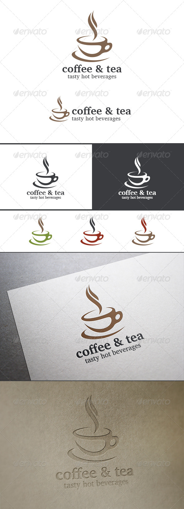 Coffee Tea Cup Logo Cafe Abstract