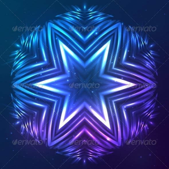 GraphicRiver Abstract Shining Cosmic Star 8193032