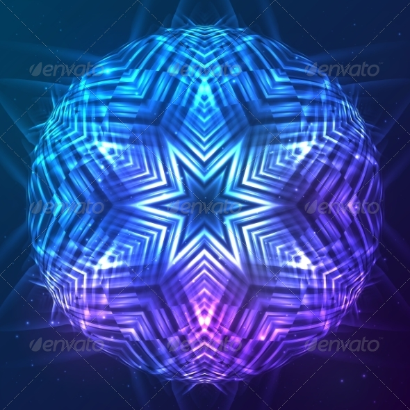 GraphicRiver Abstract Shining Cosmic Sphere 8193036