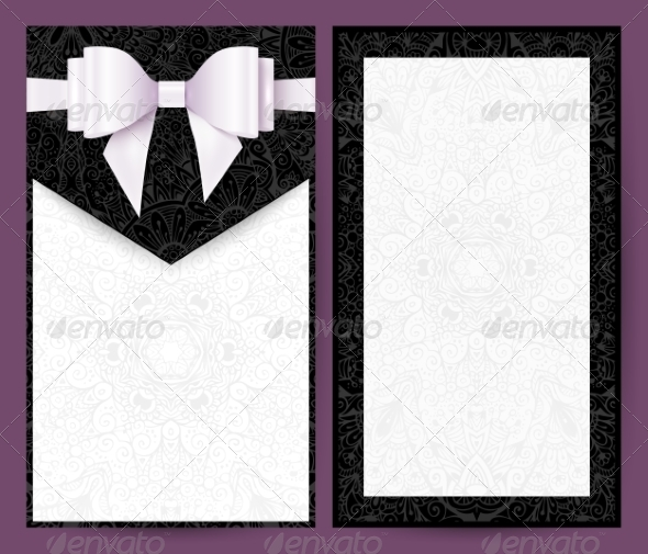 GraphicRiver Elegant Black and White Wedding Invitation 8193105