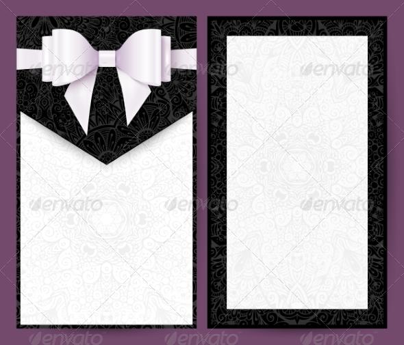 GraphicRiver Elegant Black and White Wedding Invitation 8193105