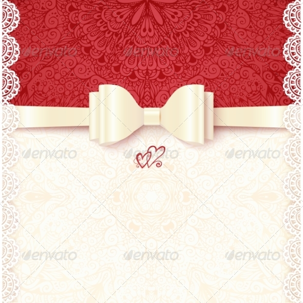 GraphicRiver Vintage Wedding Card Template 8193109