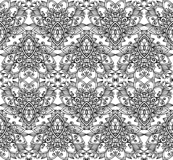 GraphicRiver Ornate Vintage Seamless Pattern 8193218