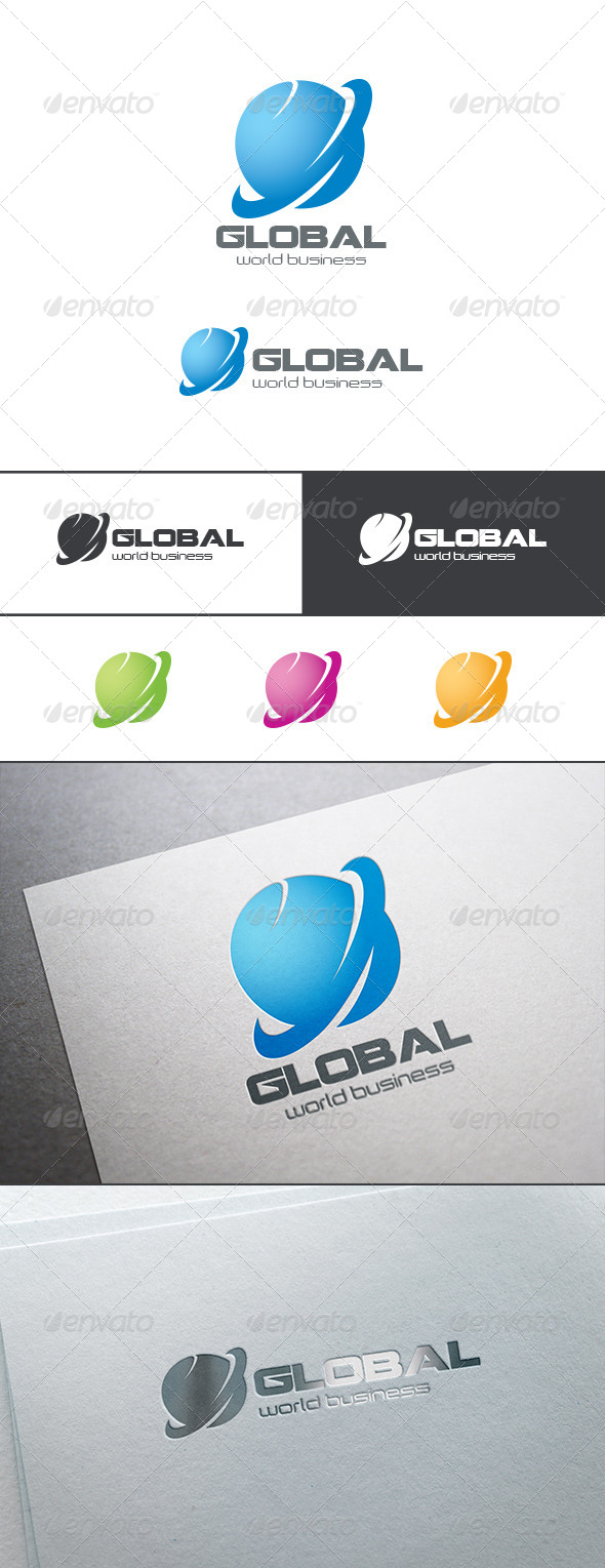 Global Business Logo Abstract