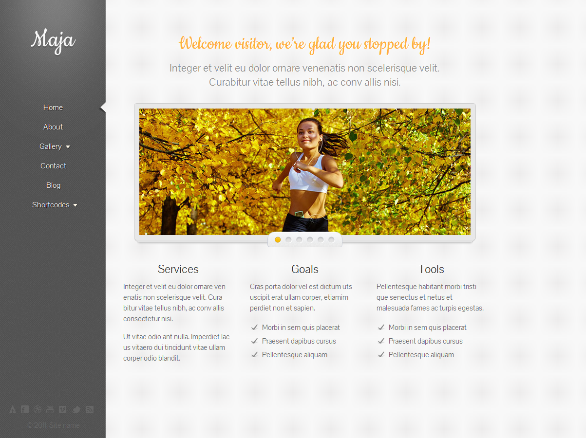 Maja - Responsive WordPress Theme