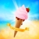 Summer Ice-Cream on Shining Background - GraphicRiver Item for Sale