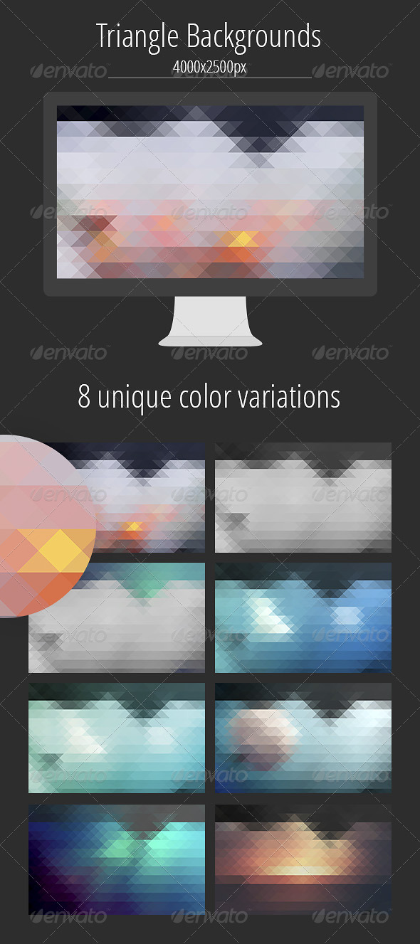 GraphicRiver Triangle Backgrounds 8193447