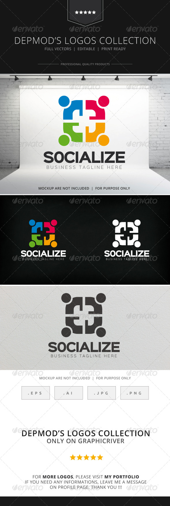 GraphicRiver Socialize Logo 8193454