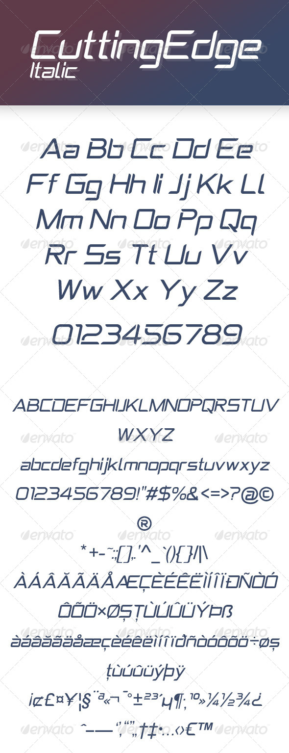 GraphicRiver CuttingEdge Italic 8184194