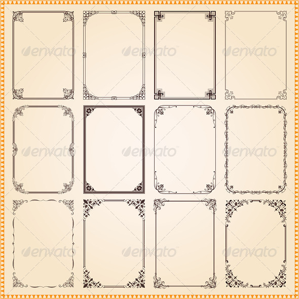 GraphicRiver Decorative Frames And Borders SeT 8193809