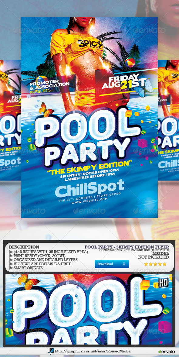 GraphicRiver Pool Party Skimpy Edition 8193995