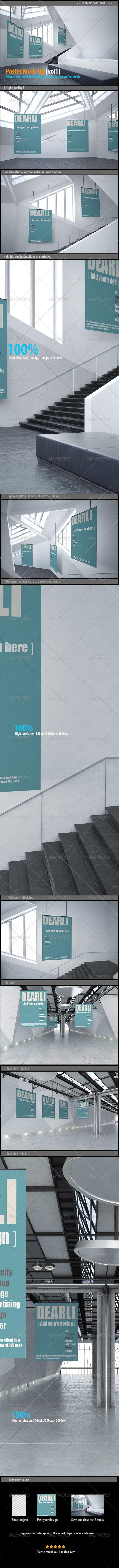 GraphicRiver Poster Mockups [vol1] 8194038