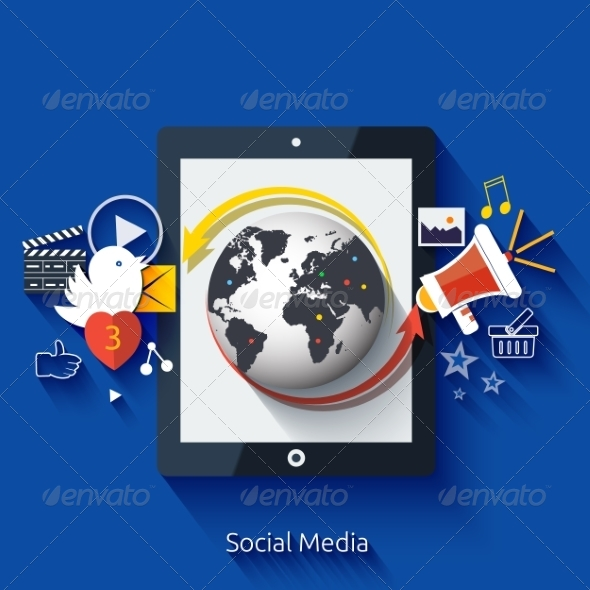 GraphicRiver Social Media Application Icons 8194304