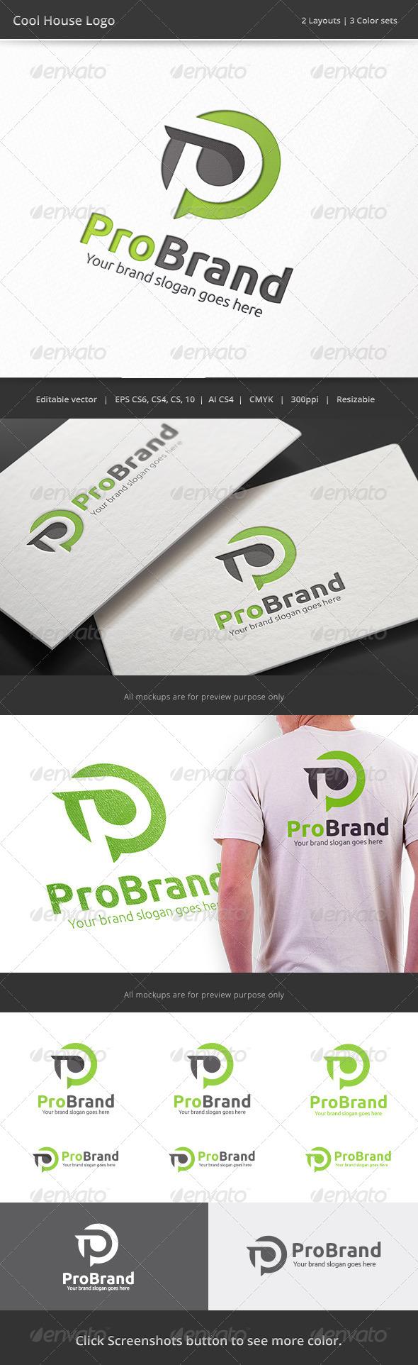 GraphicRiver Pro Brand Letter P Logo 8194320