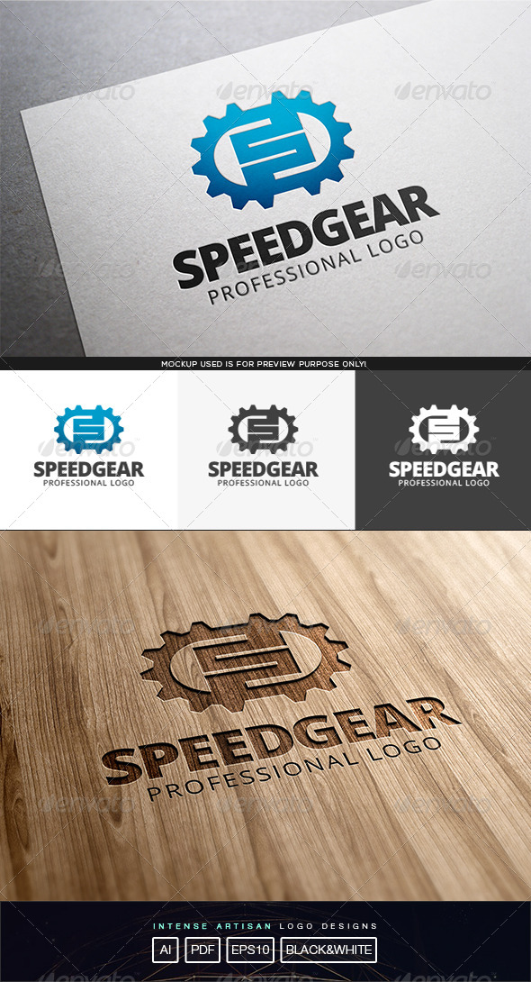 GraphicRiver Speed Gear Logo Template 8194374