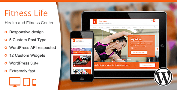 Fitness Life - Gym/Fitness WordPress Theme